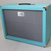 Gabinete 1×12 AcedoAudio azul piscina prataBR