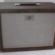 Gabinete 1×12 AcedoAudio marrom velho tela champagne