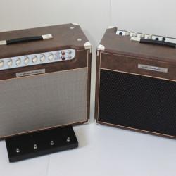 Amplificador Valvulado AcedoAudio 290 1x12 VL30 1x12 marrom velho