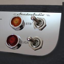 Amplificador valvulado AcedoAudio VL15 detalhe do painel