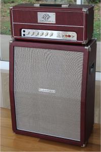 Amplificador Valvulado AcedoAudio 296 cabeçote e gabinete 2x12 vertical